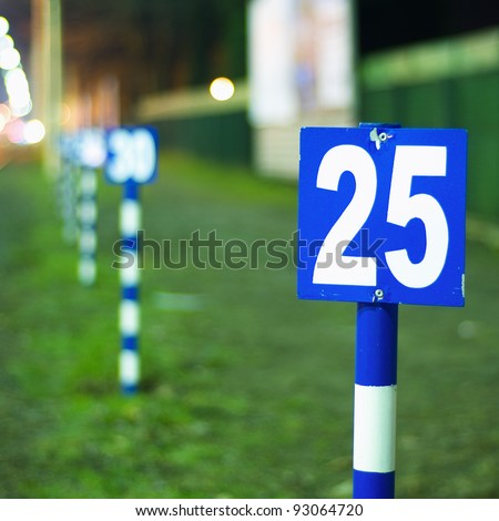 Number 25 on sign. One in the series of similar images.