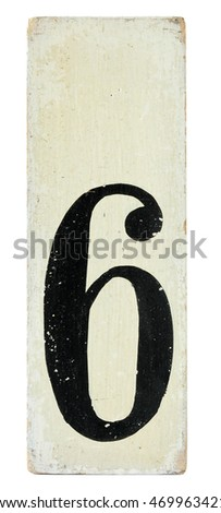 Number on wooden panel