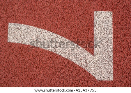 Number 7,Running track for the athletes background - stock photo