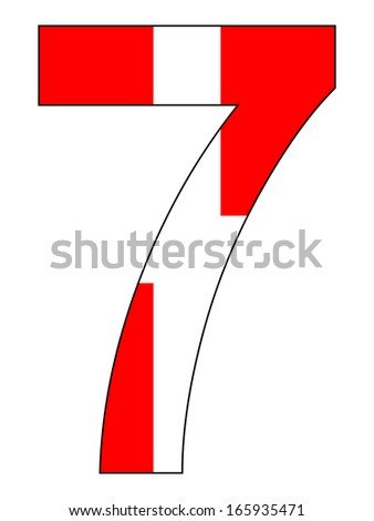 Number series with flag inside - Denmark