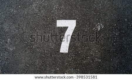 Number seven, 7 - stock photo
