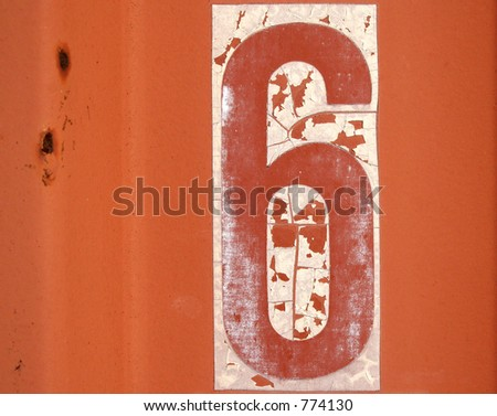 Number six - stock photo
