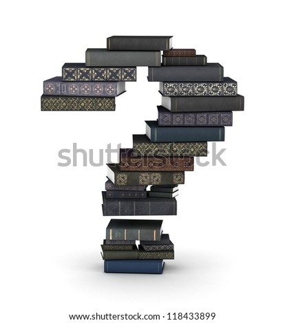 Number , stacked from many  books in pile - stock photo