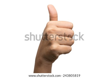Number ten in sign language. - stock photo