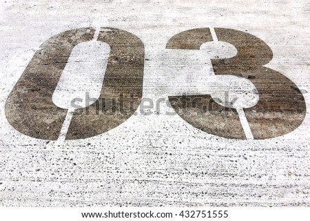 Number three 3 abstract background texture - stock photo