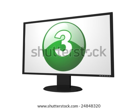 number three monitor for presentation