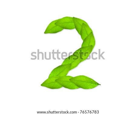number two - stock photo