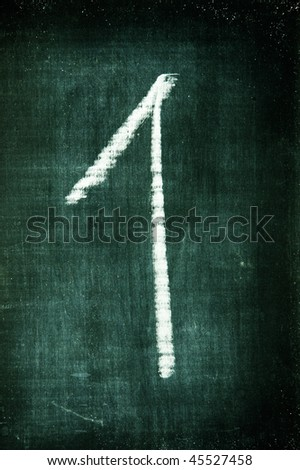 number written with a chalk on a blackboard - stock photo
