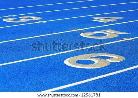 numbered stadium track lanes