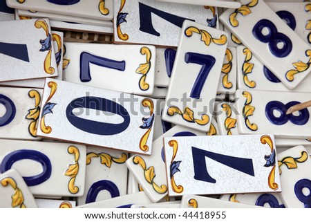numbers - a pattern of numbers - stock photo