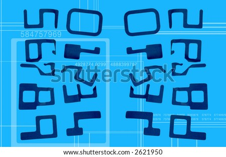 numbers cutout in paper and photographed in sequence - stock photo