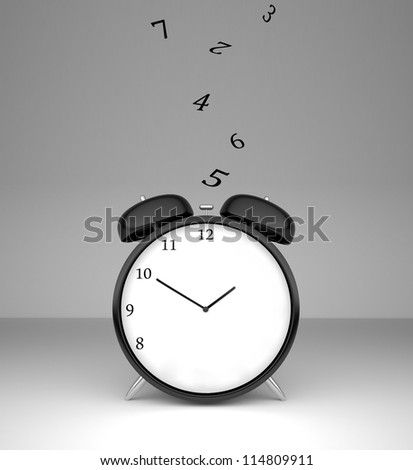 numbers fall on alarm clock