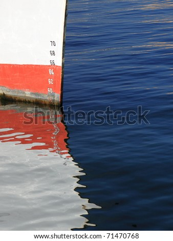 Numbers of ships depth gauge blue sea - stock photo
