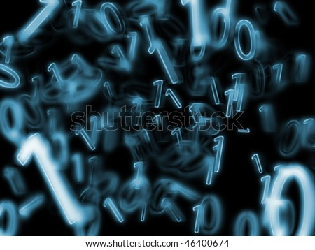 numbers on a black background - stock photo