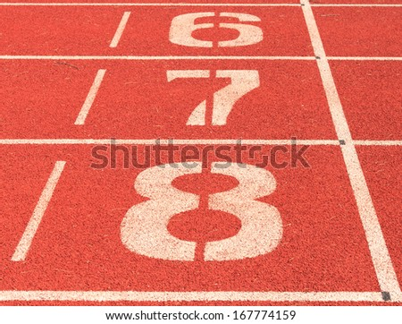 numbers on outdoor running track