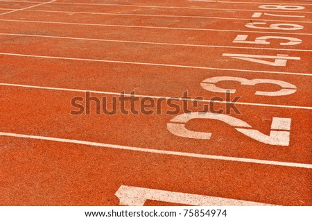 Numbers on the track is the beginning of the race background texture - stock photo