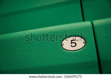 Numbers tell the seats of those who came to watch sports - stock photo