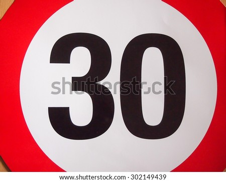 Numbers traffic background  - stock photo