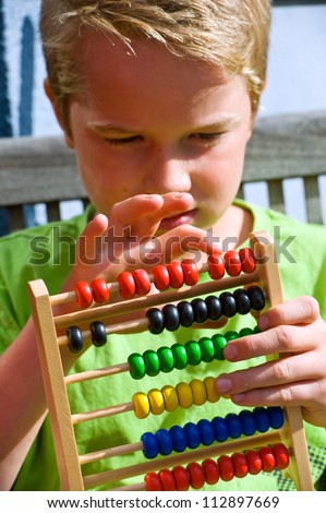 numeracy - stock photo