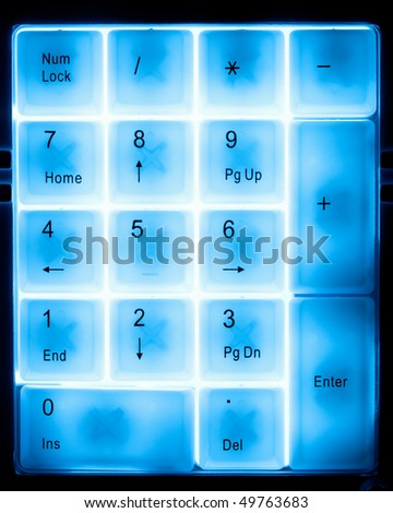numeral pad keyboard - stock photo