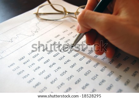 Numerals and finance - stock photo