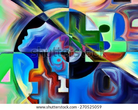 Numeric Color series. Abstract design made of numbers, colors and shape on the subject of math, science, education and art - stock photo