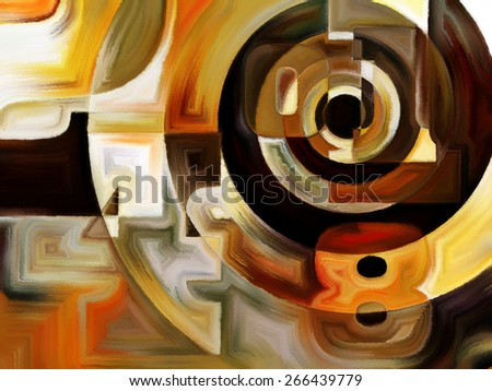 Numeric Color series. Composition of numbers, colors and shape on the subject of math, science, education and art - stock photo