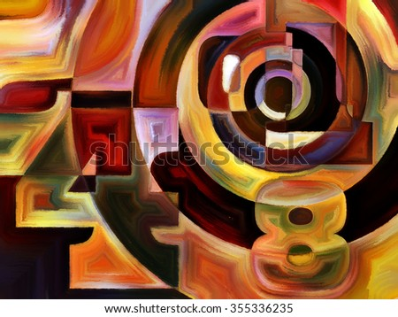 Numeric Color series. Interplay of numbers, colors and shape on the subject of math, science, education and art - stock photo