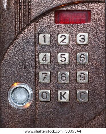 Numerical code lock - stock photo