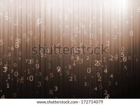 Numerical designed computer background - stock photo