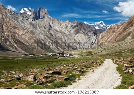 Nun Kun Range - Indian Himalayas - trek from Kargil to Padum - Zanskar, Ladakh, Jammu and Kashmir, India  - stock photo