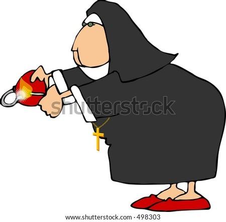 Waving Nun Stock Illustration 18417184 - Shutterstock
