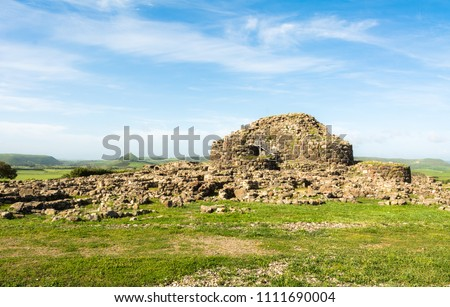 "Nuraghe ""Su Nuraxi"" in Barumini, Sardinia, Italy; a wonderful place that now since 1997 has been enrolled in Unesco World Heritage Lists because of its uniqueness."