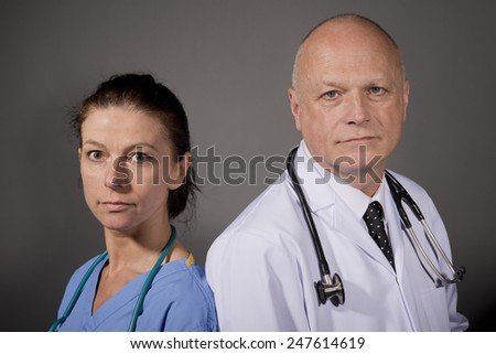 Nurse And Doctor - stock photo