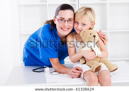 nurse and little girl patient
