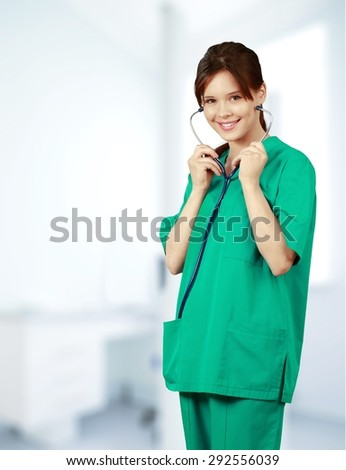 Nurse, Asian Ethnicity, Doctor. - stock photo