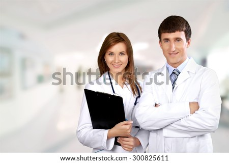 Nurse, Doctor, Asian Ethnicity. - stock photo