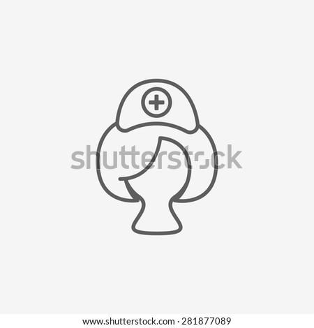 Nurse icon - stock photo