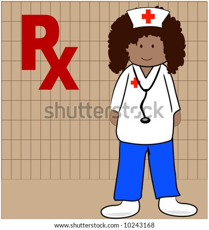 nurse or pharmacist able to give out prescriptions - stock photo
