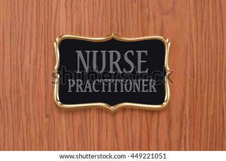 Nurse Practitioner  Sign Door Sign Wood Grain