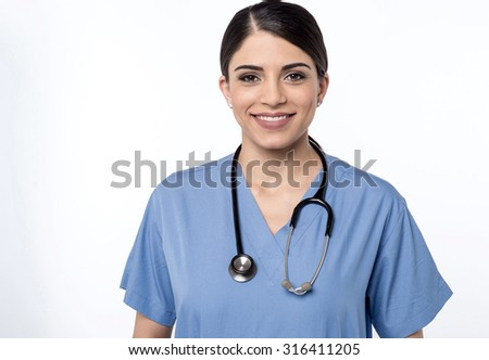 Nurse present for your assistance - stock photo