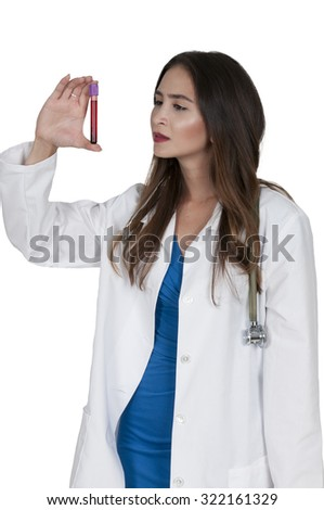 Nurse taking a patient's blood sample in a medical facility - stock photo