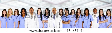 Nurse who is working her shift in a hospital - stock photo