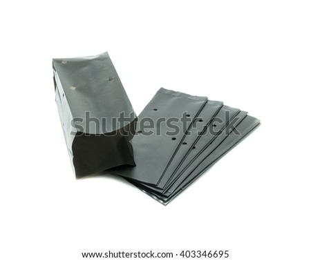 nursery bags on white background - stock photo