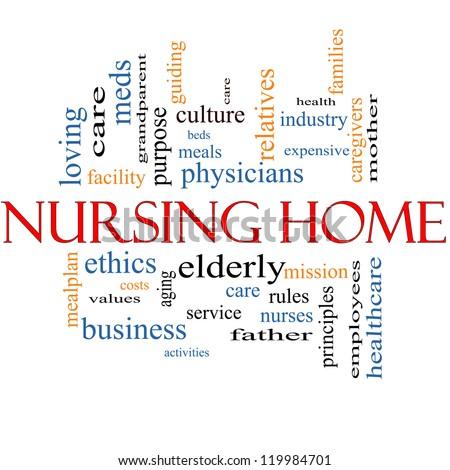 Nursing Home Week Nursing Home Word Cloud