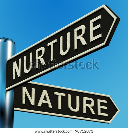 Nurture Or Nature Directions On A Metal Signpost