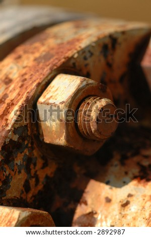 Nut and Bolt - stock photo