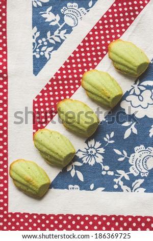 Nut cookies madlen - stock photo