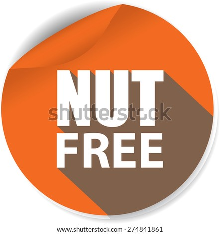 Nut Free Stickers Icons On White Stock Illustration 274841861