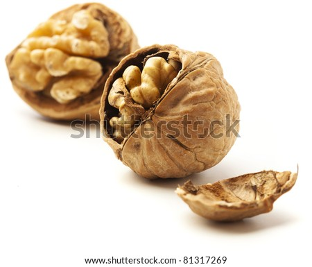 nut isolated on a white background - stock photo
